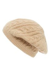 Sole Society Women's Cable Knit Beret Brown Camel