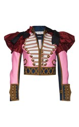 Dsquared2 Embroidered Puff Sleeve Kaban Jacket Pink