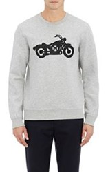 Marc By Marc Jacobs Motorcycle Graphic Sweatshirt Grey