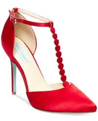 Blue By Betsey Johnson Cece Evening Pumps Women's Shoes Red
