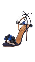 Aquazzura Disco Thing Sandals Ink