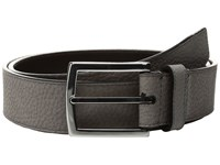 Cole Haan 35Mm Belt With Stitched Contrast Color Edge And Lining Detail Grey Dark Roast Men's Belts Brown
