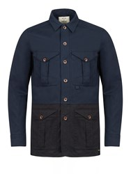 Realm And Empire Lightweight Cotton Overshirt Jacket Navy
