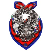 Emily Carter The Royal Tiger Scarf Blue Red