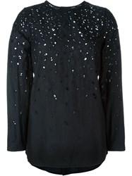 Proenza Schouler Perforated Blouse Black