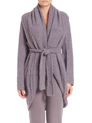 Skin Boucle Wrap Cardigan Shadow
