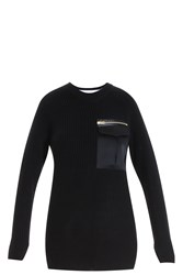 Rag And Bone Satin Pocket Jumper Black