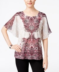 Jm Collection Butterfly Sleeve Top Only At Macy's Asymmetric Part