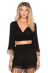 L Space Eternity Wrap Top Black