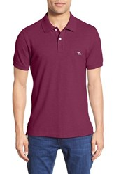 Men's Rodd And Gunn 'The Gunn' Pique Cotton Polo Claret