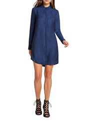 Bcbgeneration Jacquard Python Pattern Shirtdress Deep Blue