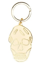 Alexander Mcqueen Men's Brass Skull Key Ring