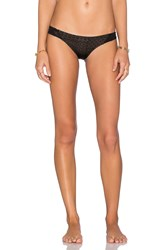 Rvca Doomed Geometric Cheeky Bikini Bottom Black