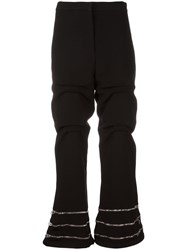 J.W.Anderson Zip Detail Gathered Trousers Black