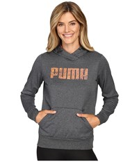Puma Elevated Poly Fleece Hoodie Dark Gray Heather Women's Sweatshirt