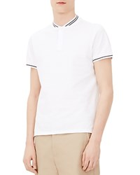 Sandro Olympic Classic Fit Polo Shirt Blanc