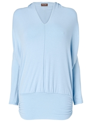Phase Eight Gwyneth V Neck Dana Top Pale Blue
