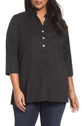 Foxcroft Plus Size Women's 'Pamela' Button Back Non Iron Tunic Shirt