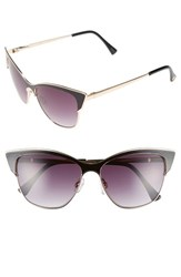 Women's Vince Camuto 55Mm Cat Eye Sunglasses Gold Black