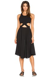 6 Shore Road Diver's Midi Dress Black