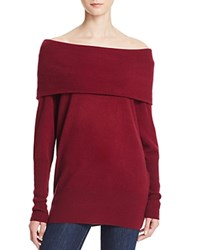 Aqua Cashmere Off The Shoulder Cashmere Sweater Pinot