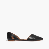 Madewell The D'orsay Flat In Leather True Black