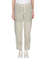 High Trousers Casual Trousers Women Light Grey