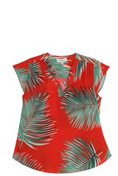 Paul And Joe Palm Print Top Red