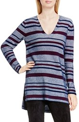 Vince Camuto Women's Two By Plait Stripe V Neck Tunic
