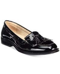 Wanted Charlie Kiltie Loafers Women's Shoes Black Patent