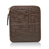 Comme Des Garcons Sa2100el Embossed Logo Wallet Brown