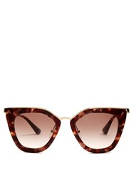Prada Eyewear Cat Eye Acetate Sunglasses Tortoiseshell