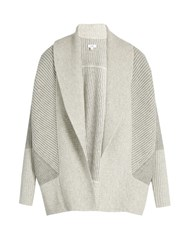 Vince Shawl Collar Wool And Cashmere Blend Cardigan Grey