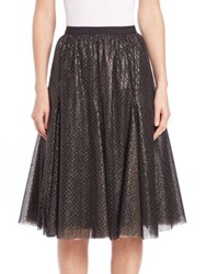 Phoebe Couture Beaded Sequin Skirt Black Gold