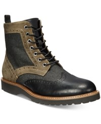 Guess Men's Frederick Brogue Boot Men's Shoes Black
