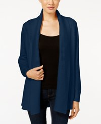 Charter Club Textured Shawl Cardigan Only At Macy's Dark Azure Blue