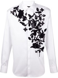 Dsquared2 Floral Embroidered Shirt White