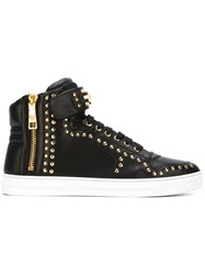 Versace Studded Hi Top Sneakers Black