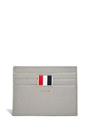 Thom Browne Pebbled Leather Card Holder Grey