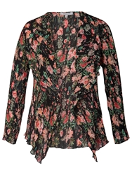 Chesca Garden Print Shrug Black Multi