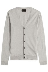 Baldessarini Cotton Cardigan With Cashmere Grey