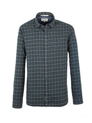 Racing Green Gerry Brushed Check Shirt Olive
