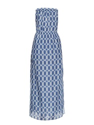Velvet By Graham And Spencer Nuku Strapless Cotton And Silk Blend Maxi Dress