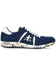 Premiata White 'Lucy' Sneakers Blue