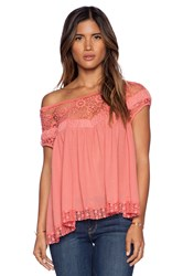 Free People Heart Throb Babydoll Coral