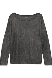 Majestic Metallic Effect Cotton And Cashmere Blend Jersey Top