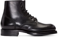 Dsquared Black Leather Maxime Boots