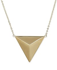Macy's Polished Pyramid Pendant Necklace In 14K Gold