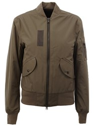 Yang Li Zipped Detail Bomber Green