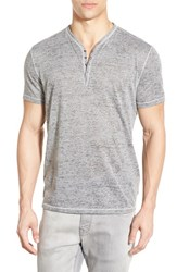 Men's John Varvatos Star Usa Short Sleeve Burnout Grey Heather